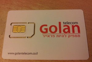 SIM card for Golan Telecom