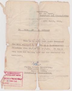 מכתב שחרור מיחידת הנוטרים
