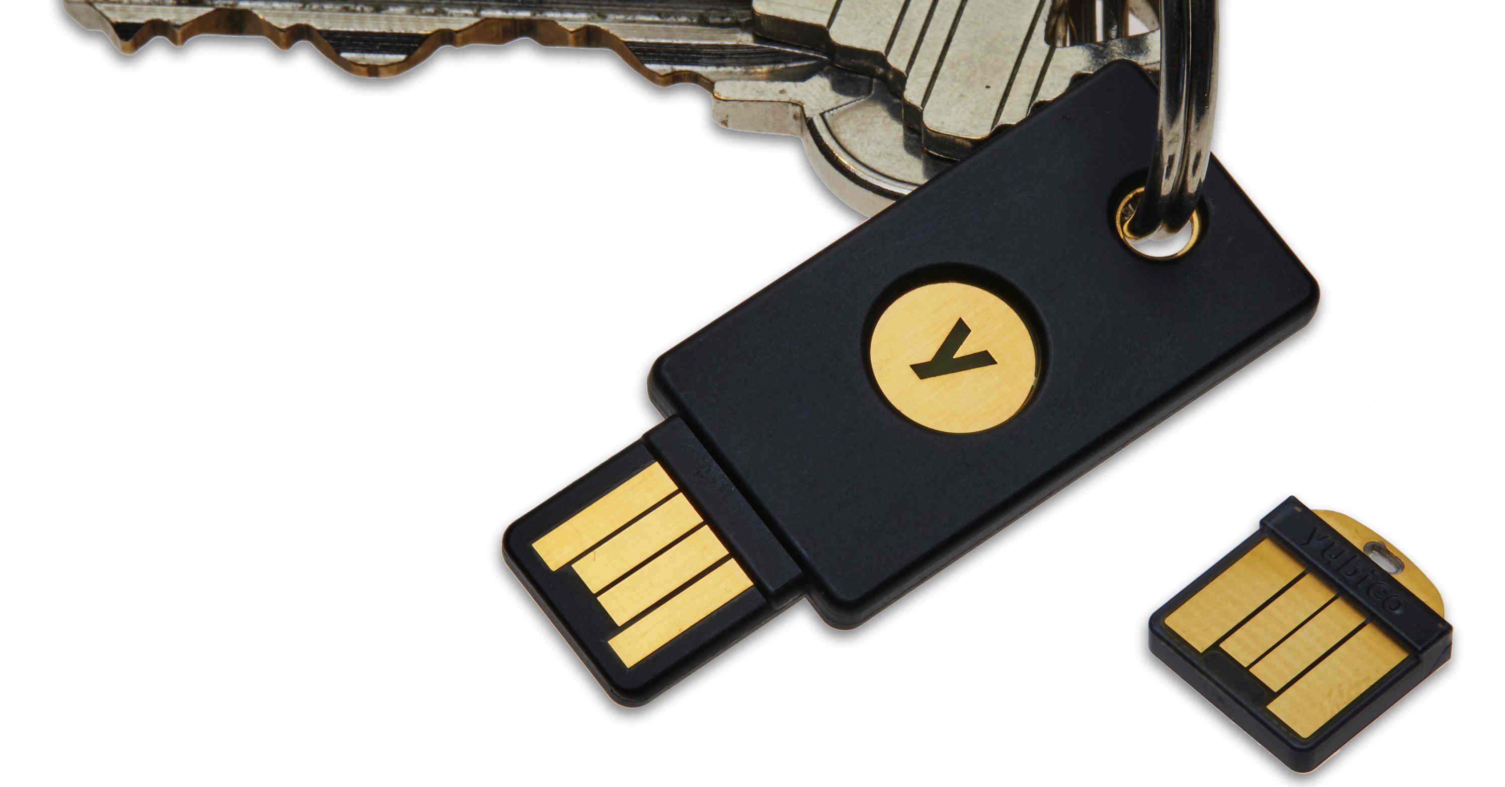 YubiKey 4 keychain and YubiKey 4 Nano